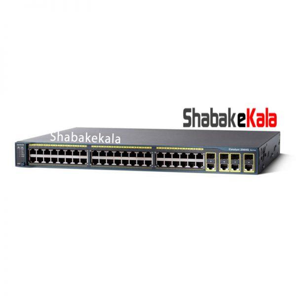 سوئیچ شبکه سیسکو 24 پورت WS-C2960G-24TC-L - شبکه کالا - shabakekala.com