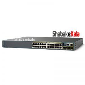 سوئیچ شبکه سیسکو 24 پورت WS-C2960S-24PS-L - شبکه کالا - shabakekala.com
