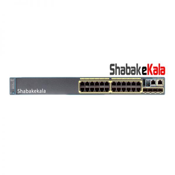 سوئیچ شبکه سیسکو 24 پورت WS-C2960S-24TS-L - شبکه کالا - shabakekala.com
