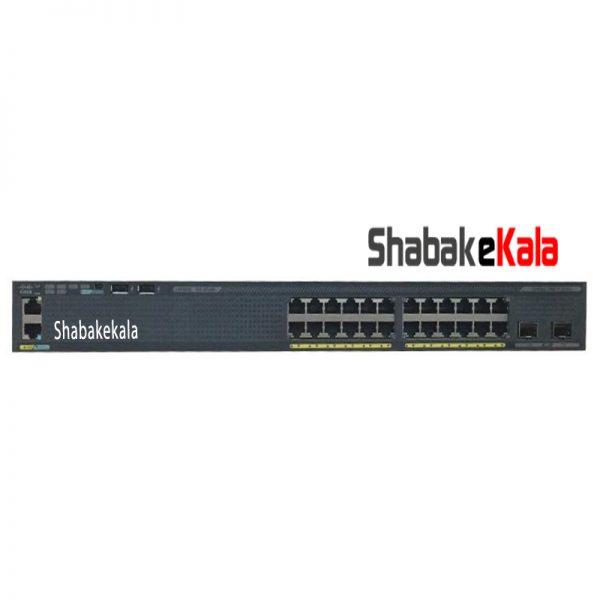 سوئیچ شبکه سیسکو 24 پورت WS-C2960X-24TD-L - شبکه کالا - shabakekala.com