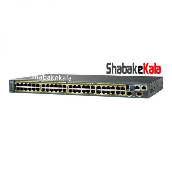 سوئیچ شبکه سیسکو 48 پورت WS-C2960X-48TS-L - شبکه کالا - shabakekala.com