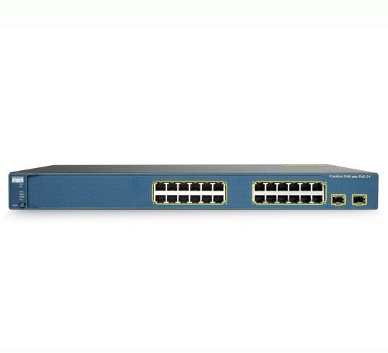 سوئیچ شبکه مدیریتی سیسکو 24 پورت WS-C3560-24PS-S - شبکه کالا