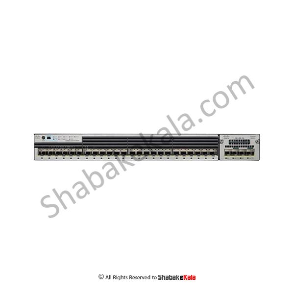سوئیچ شبکه سیسکو 24 پورت WS-C3750X-24S-S - شبکه کالا - shabakekala.com